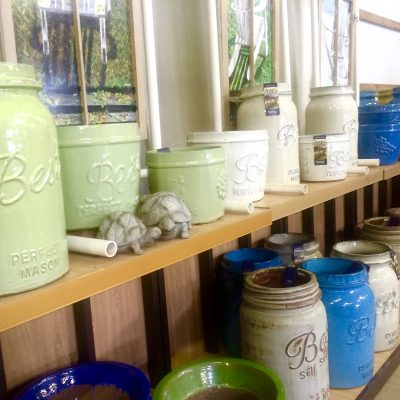 Assorted Ceramic Glazed Planters